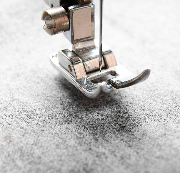 sewing machine and fabric. - embroidery machine stock pictures, royalty-free photos & images