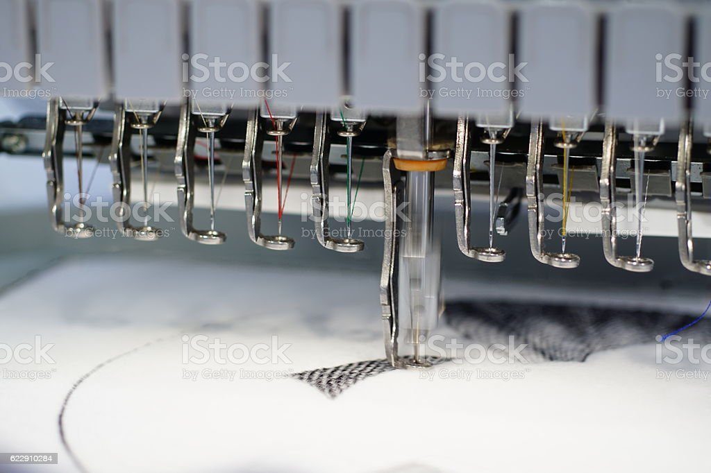 Sewing machine black stock photo