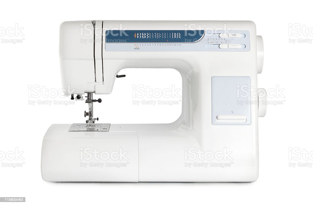 Sewing machine isolated stock photo