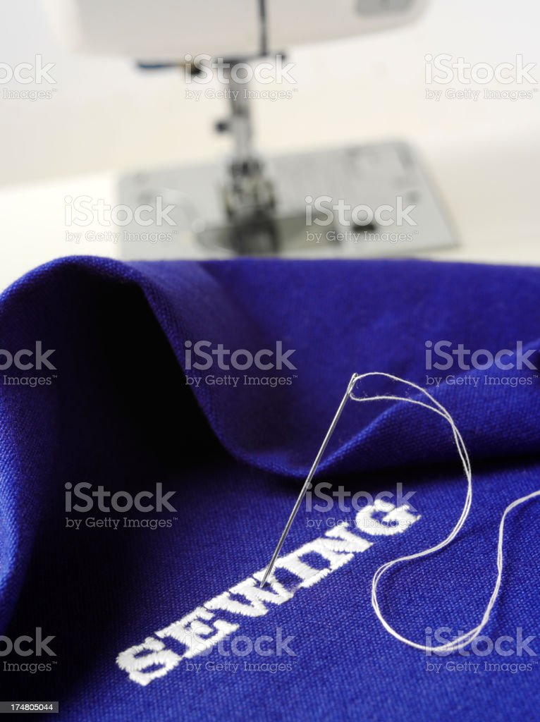 Sewing Machine with a Needle and Thread royalty-free stock photo
