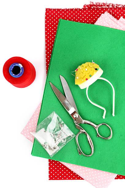 Sewing materials stock photo