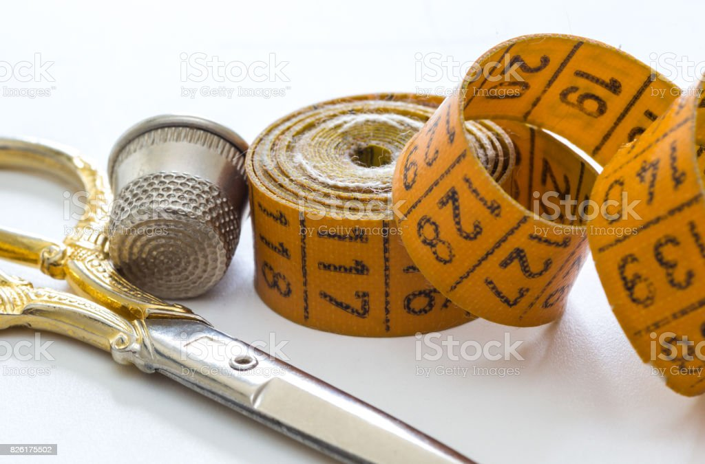 Sewing Measuring Tape stock photo