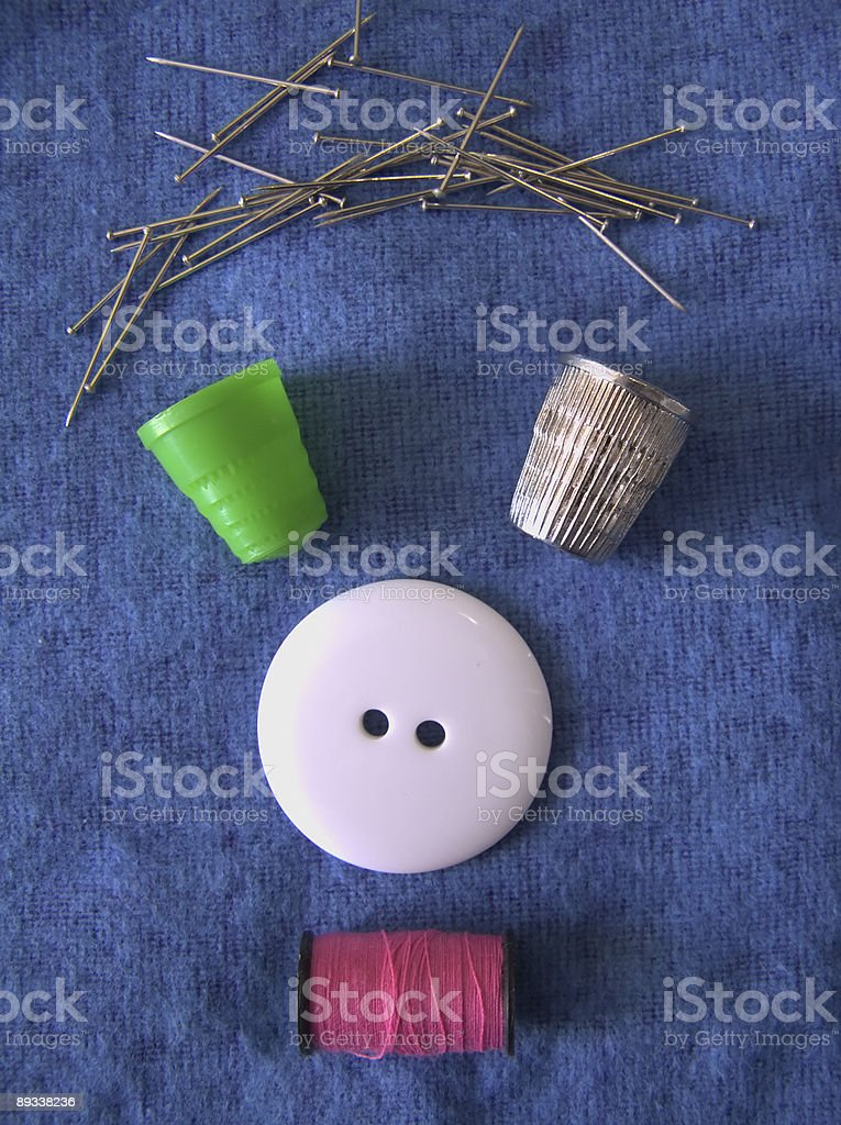 Sewing objects composition 01 royalty-free stock photo
