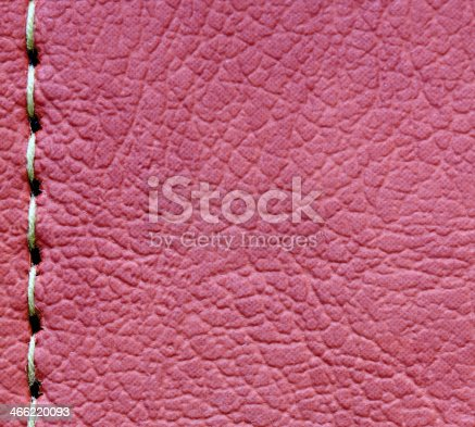 istock sewing on leather texture for background 466220093