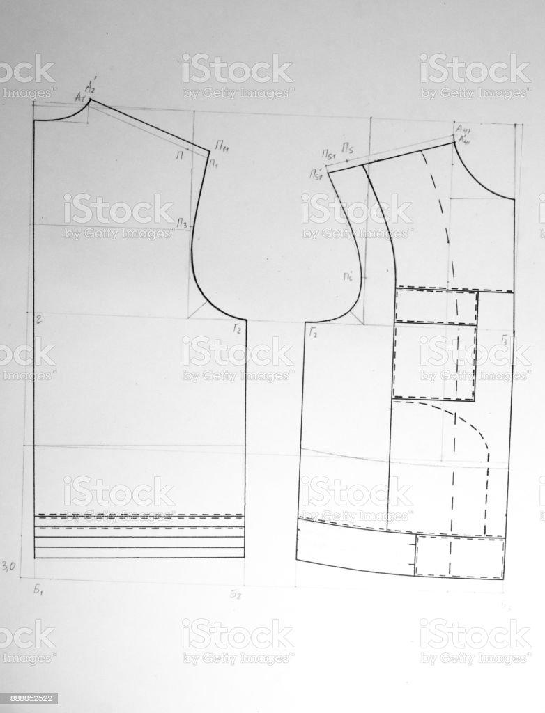 Sewing pattern stock photo