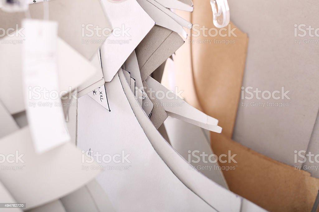 Sewing patterns stock photo