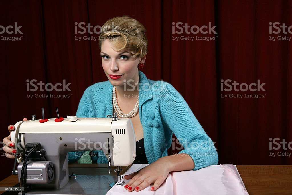 Sewing royalty-free stock photo
