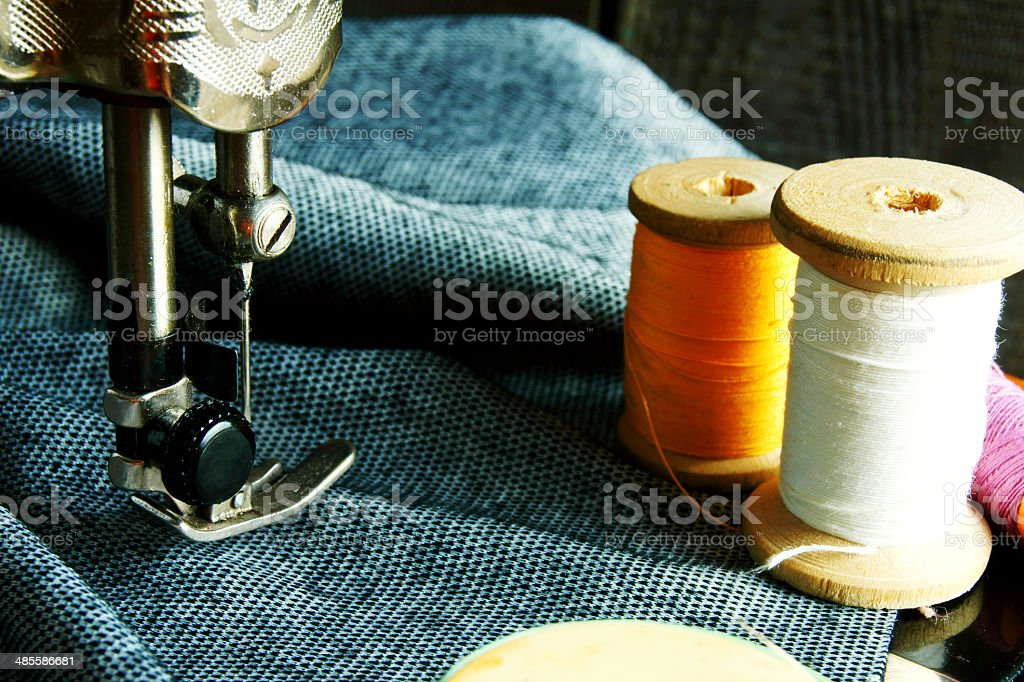 Sewing. stock photo