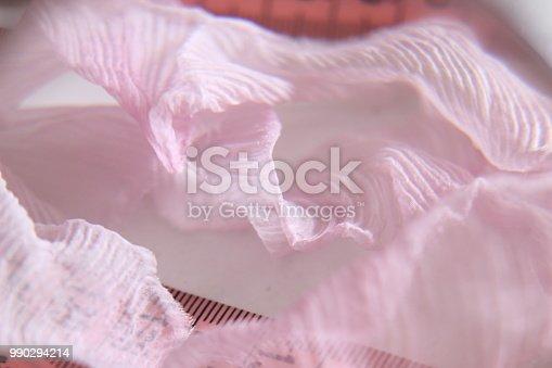 istock Sewing pink meter 990294214