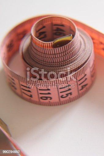 istock Sewing pink meter 990294652