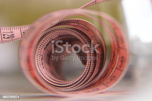 istock Sewing pink meter 990295624