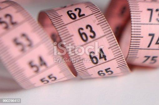 istock Sewing pink meter 990296412