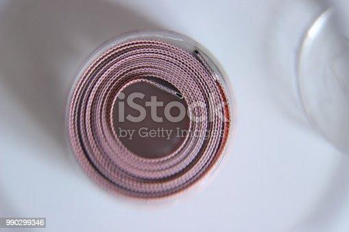 istock Sewing pink meter 990299346