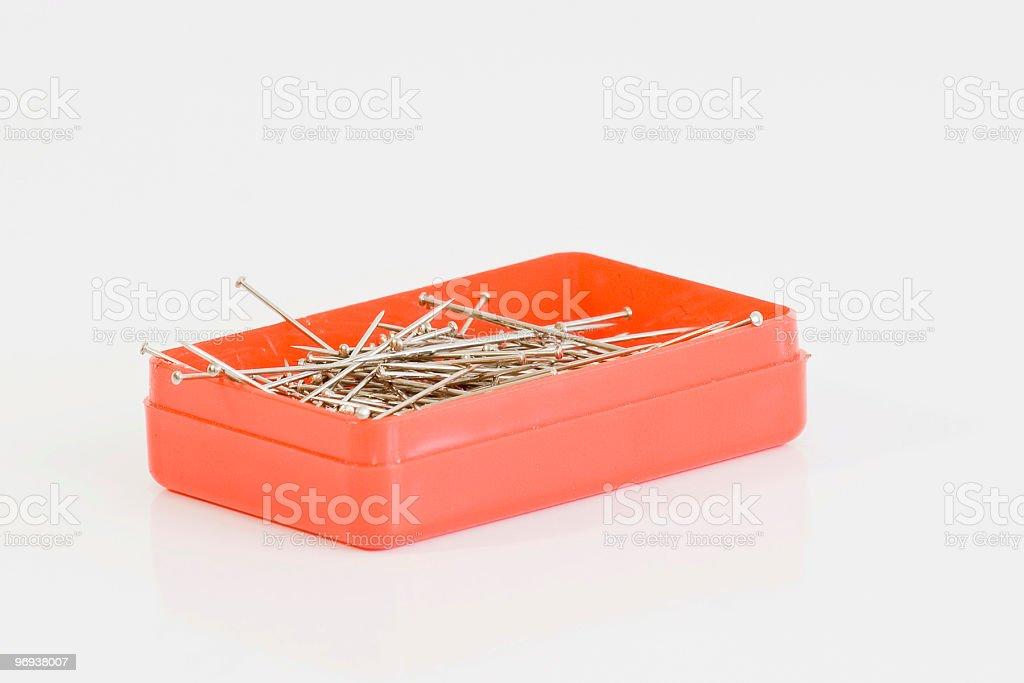 sewing pins royalty-free stock photo