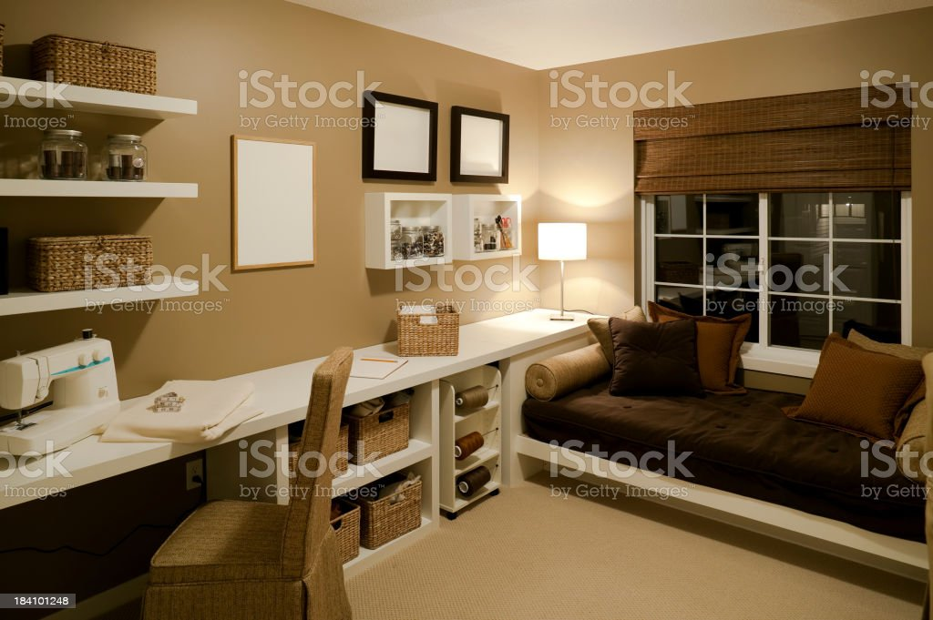sewing room basement house home interior royalty-free stock photo