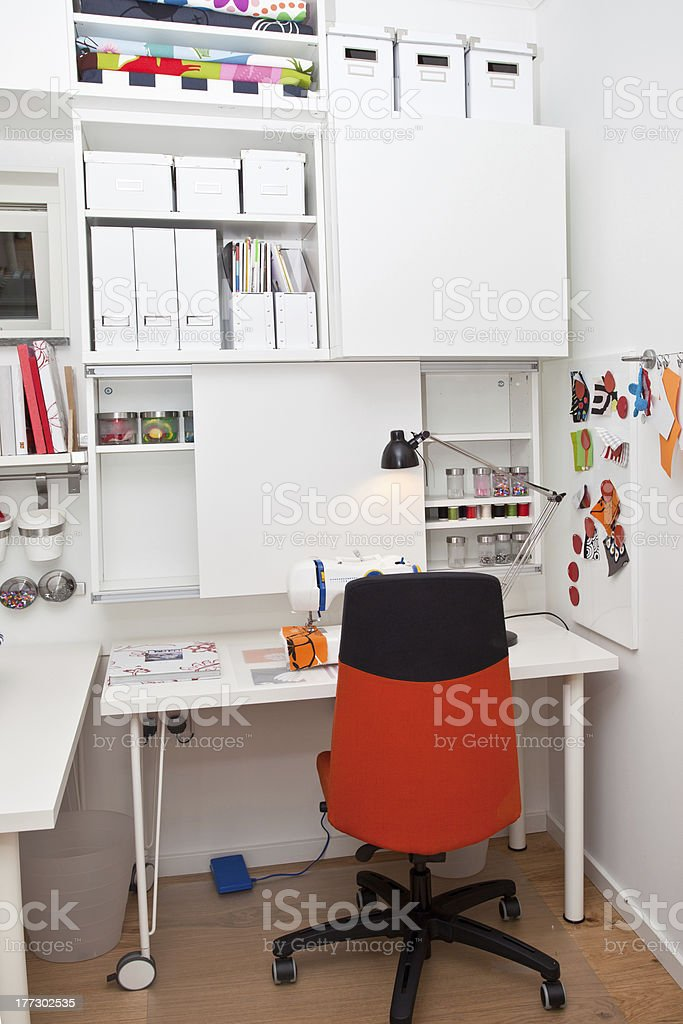 Sewing room interior royalty-free stock photo