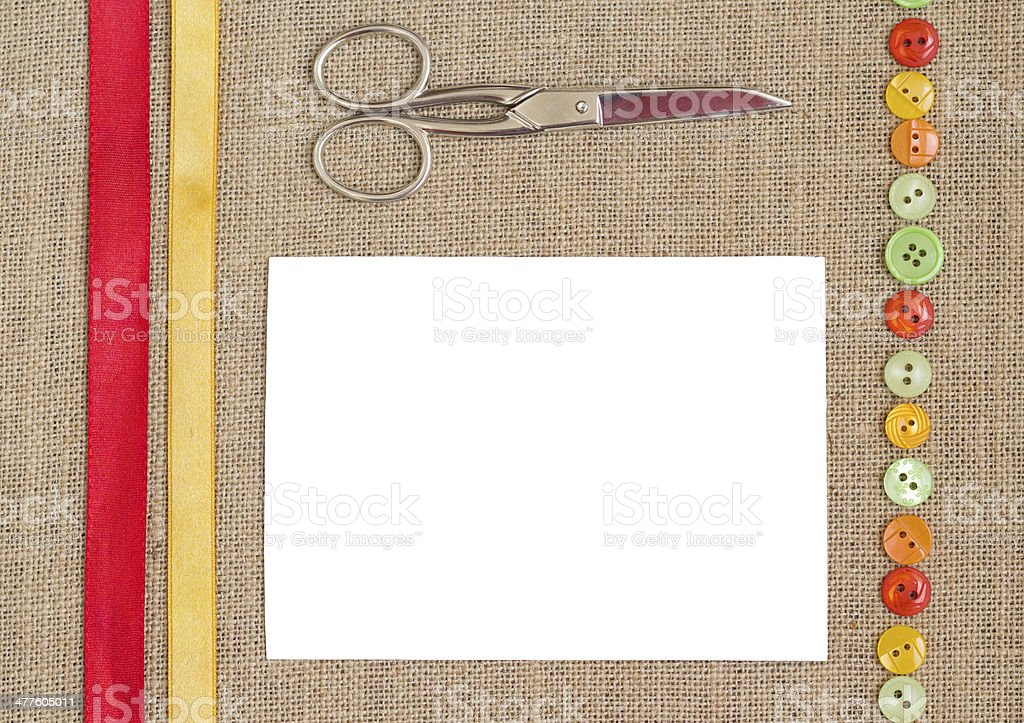 Sewing set background royalty-free stock photo