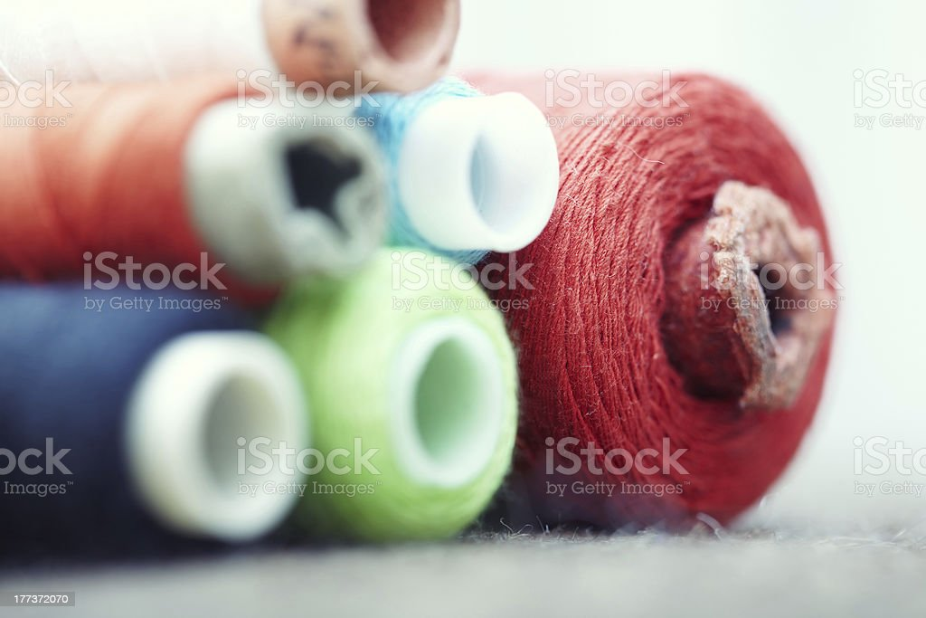 Sewing spools royalty-free stock photo