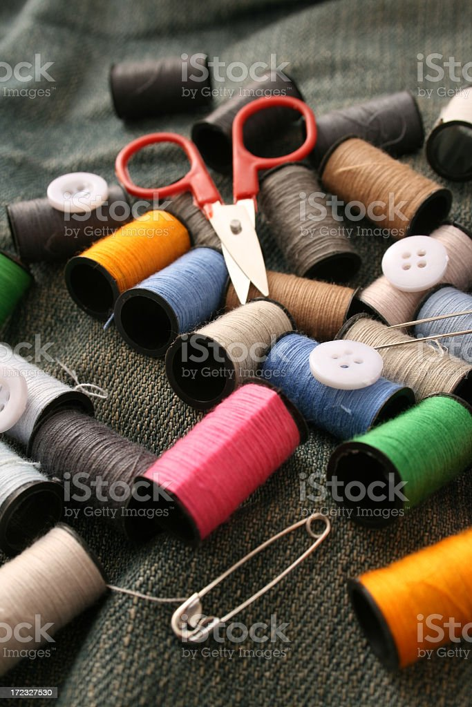 Sewing still life royalty-free stock photo