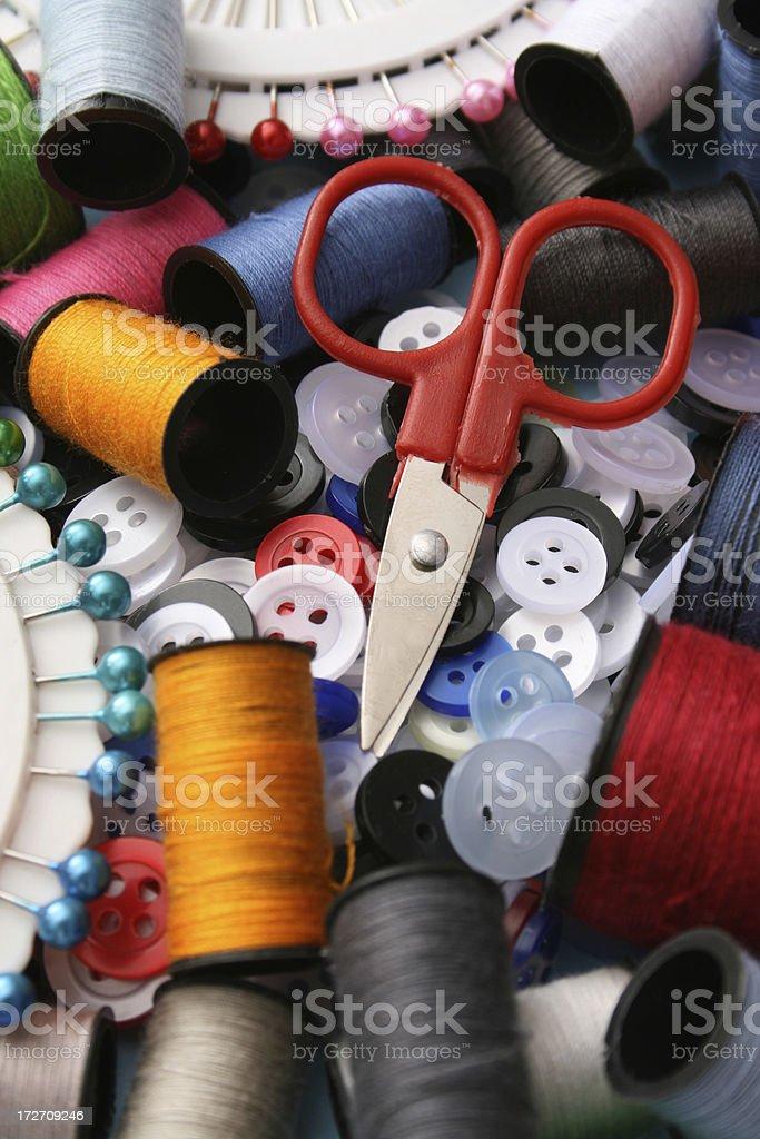 Sewing still life royalty-free stock photo