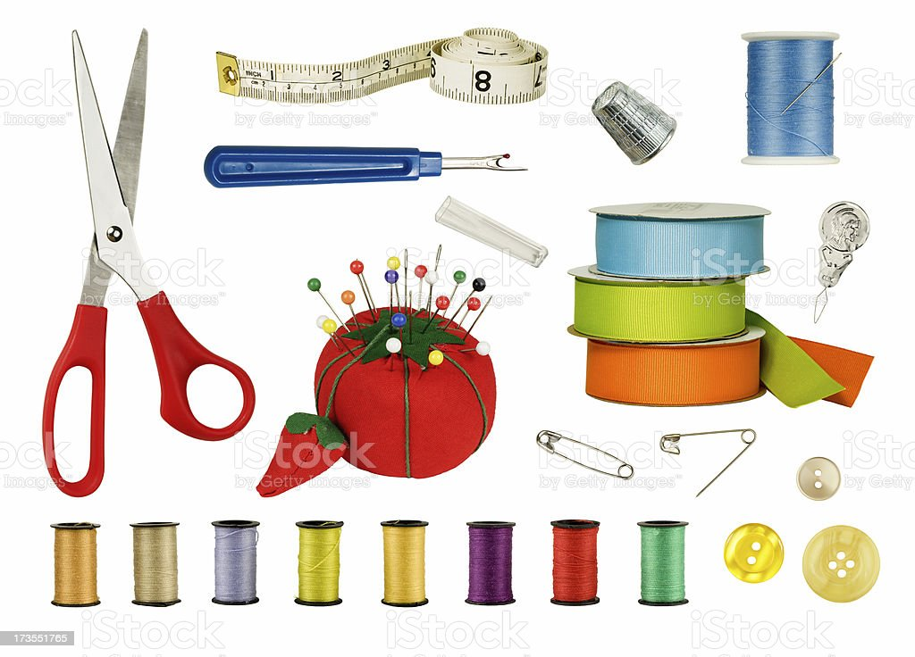 Sewing supplies royalty-free stock photo