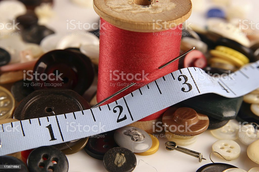 Sewing: Thread & Buttons stock photo