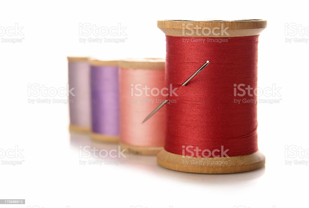 Sewing: Thread Isolated stock photo