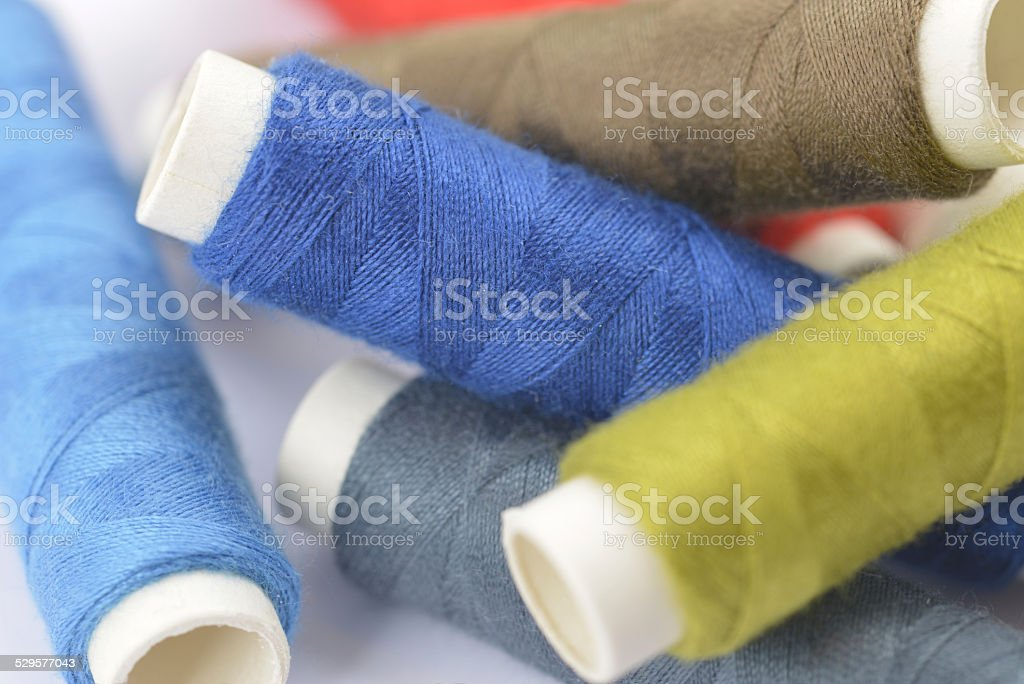 Sewing thread stock photo