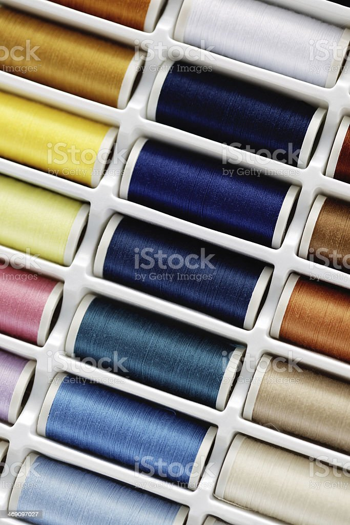 sewing thread set royalty-free stock photo