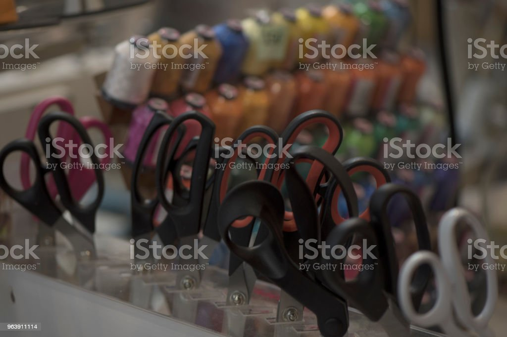 sewing threads and scissors 2 - Royalty-free Backgrounds Stock Photo