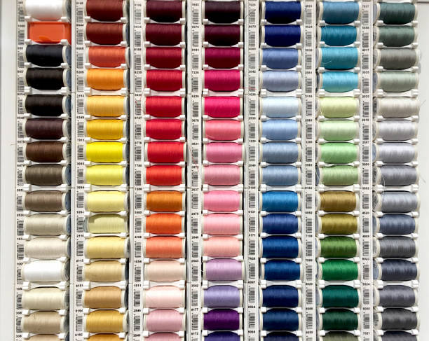 Sewing threads palette stock photo