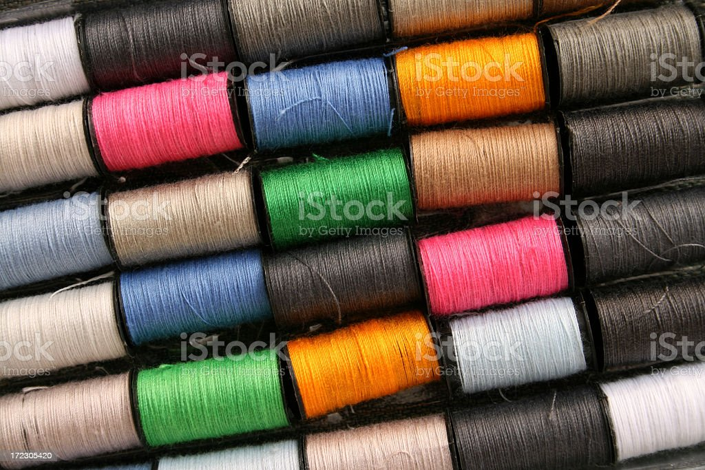 Sewing threads royalty-free stock photo