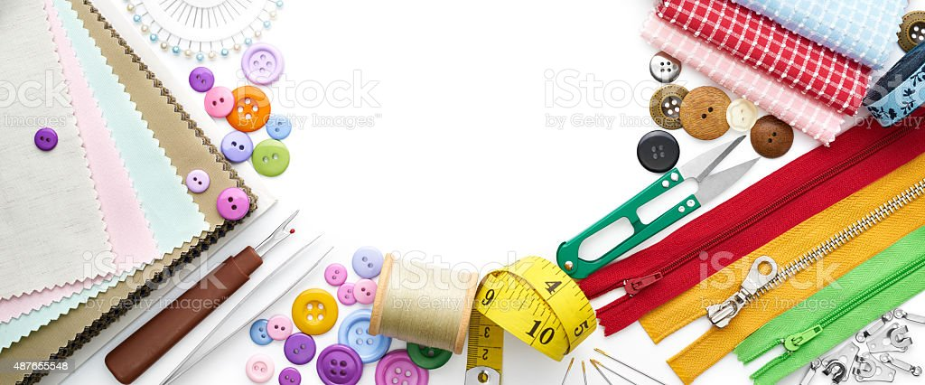 Sewing Tools and Accessories stock photo