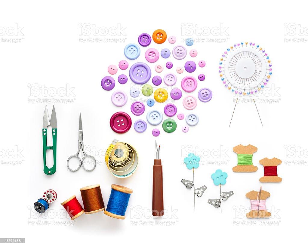 Costura ferramentas e acessórios - foto de acervo