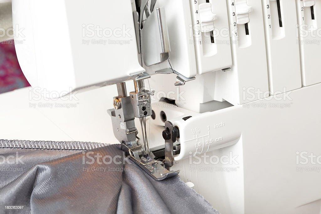 Sewing-machine needle head. royalty-free stock photo
