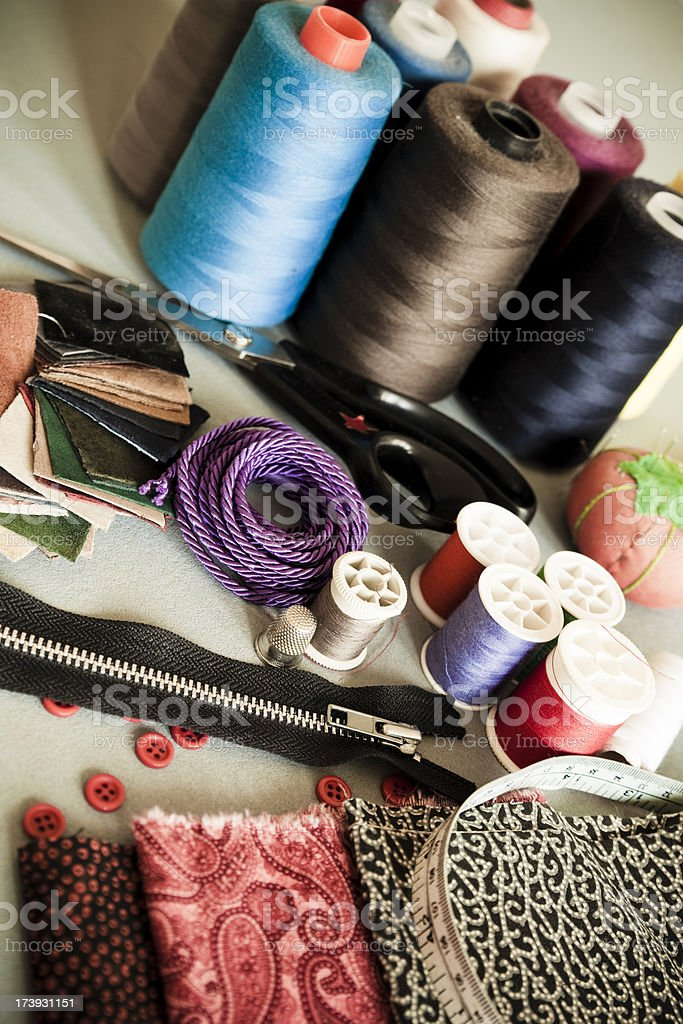 Sewings items royalty-free stock photo