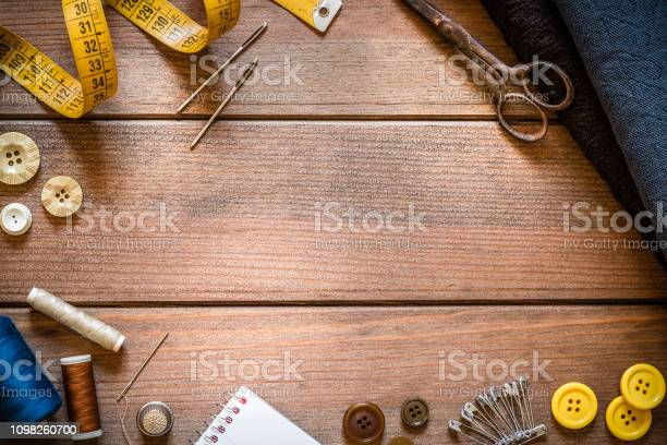 Sewings supplies frame on rustic wooden table picture id1098260700?b=1&k=6&m=1098260700&s=612x612&h=xydpxifabmsbayqiel5ken0sw1hregao1goixox1sxs=