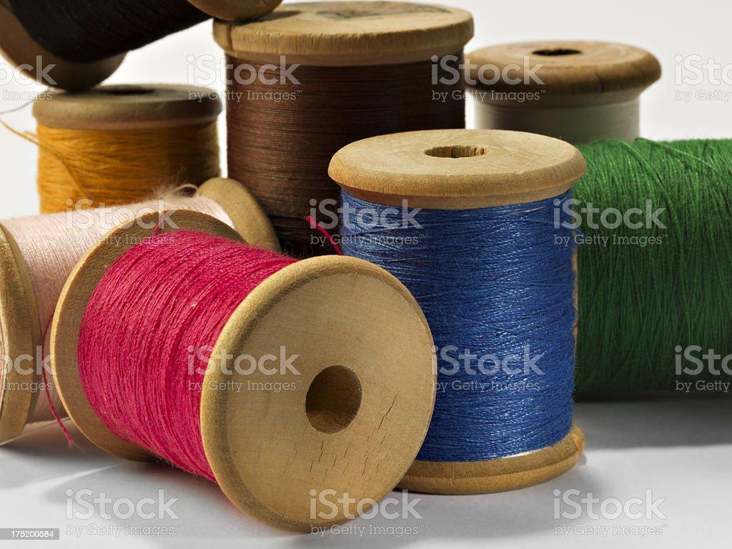 Sewing.Thread Spools stock photo