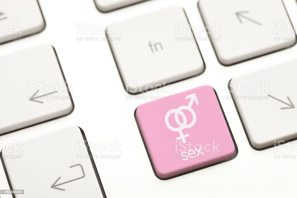 Sex computer key stock photo