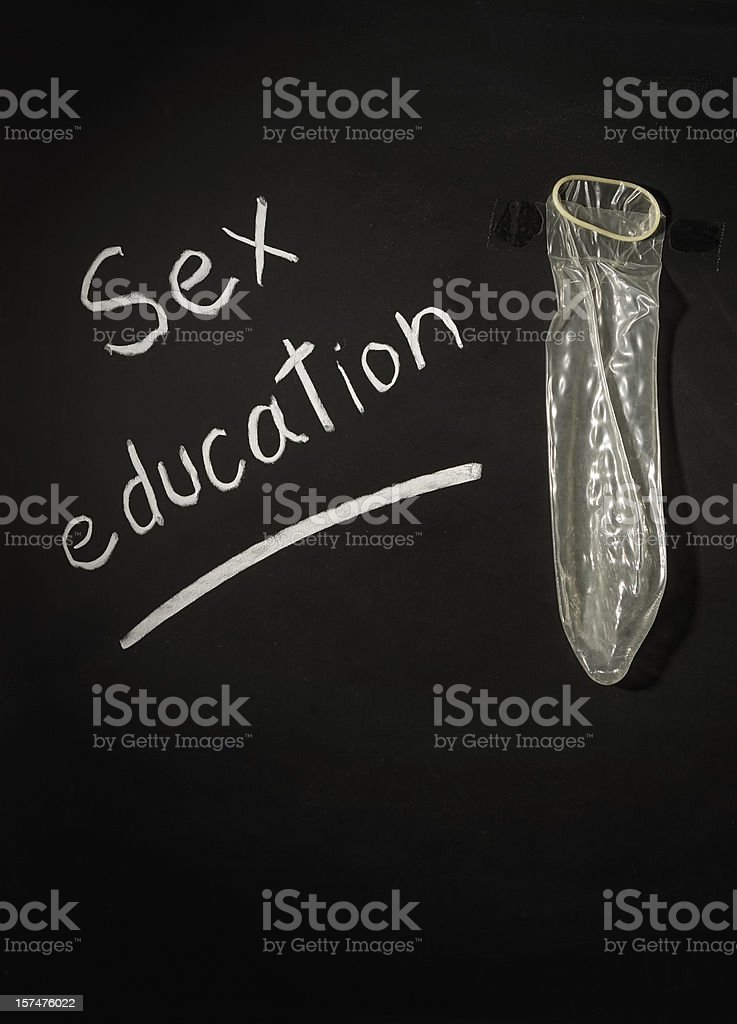 Sex education and condom royalty-free stock photo