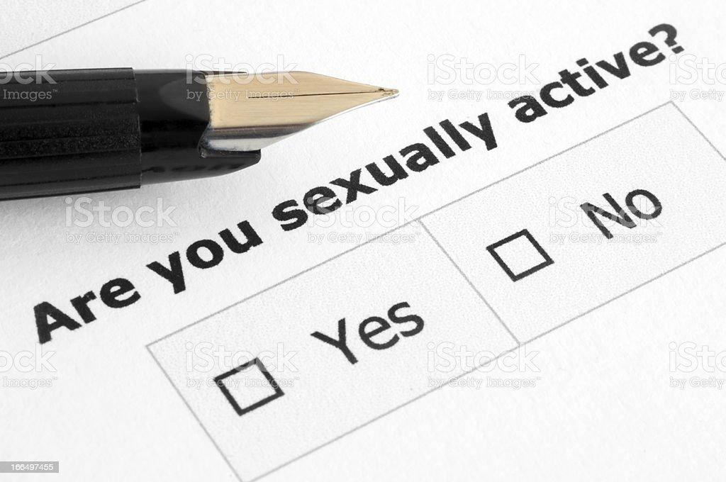Sex form stock photo