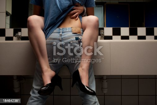istock Sex in the public toilet. 184642381