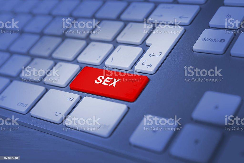 sex keyboard key stock photo