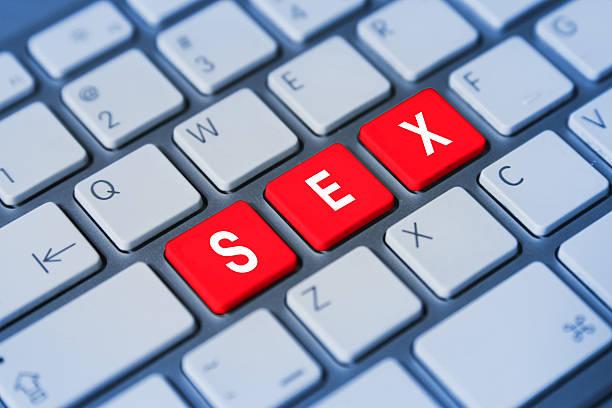 sex keyboard keys stock photo