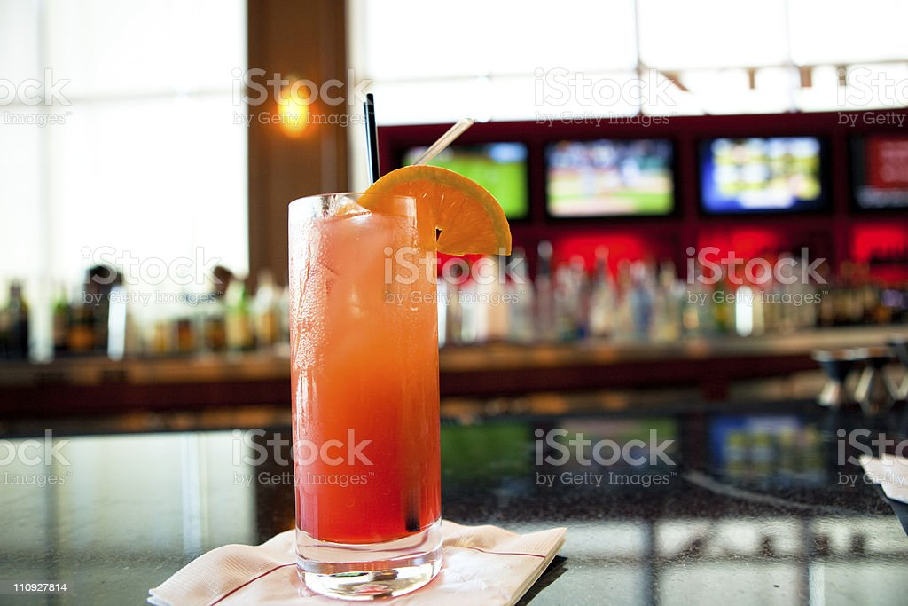 Sex on the beach drink stock photo