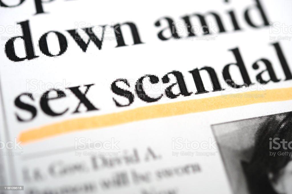 Sex scandal headlines royalty-free stock photo