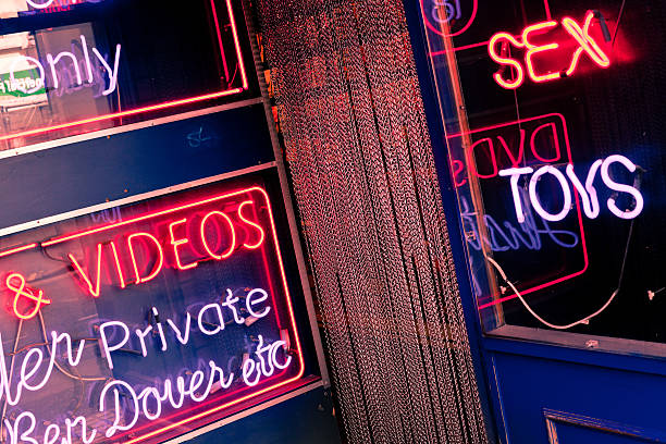 Sex Shop in Soho, London Red Light District A sex shop entrance in Soho sex toy stock pictures, royalty-free photos & images