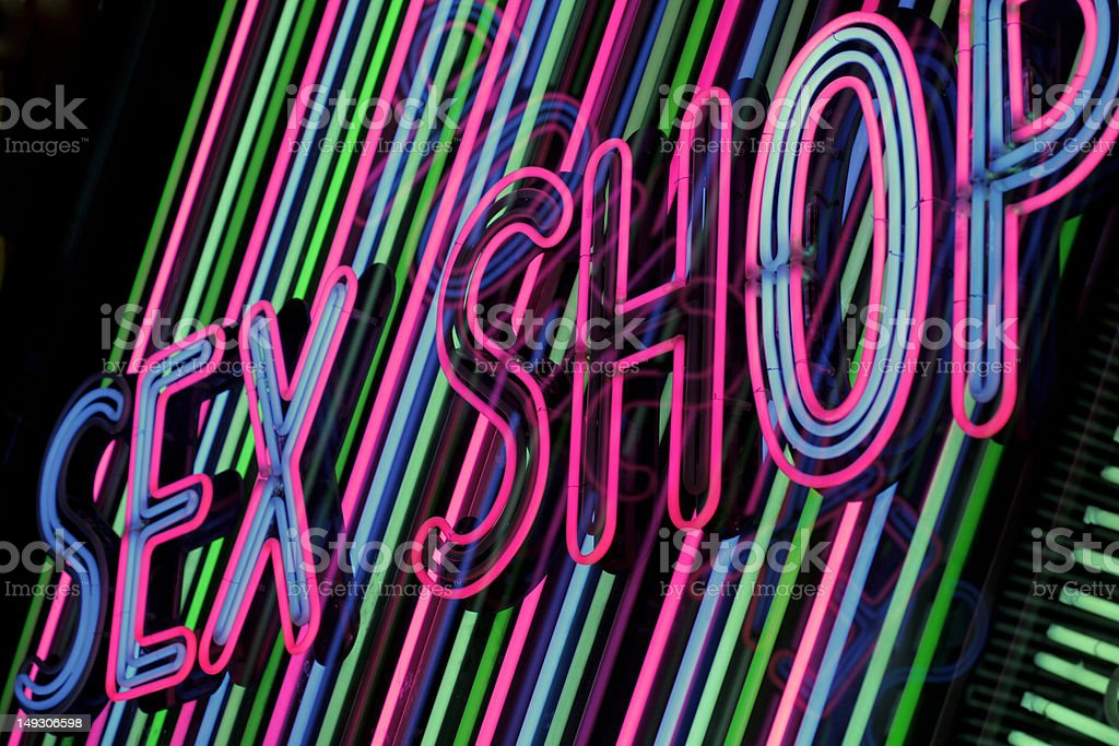 Sex shop neon stock photo