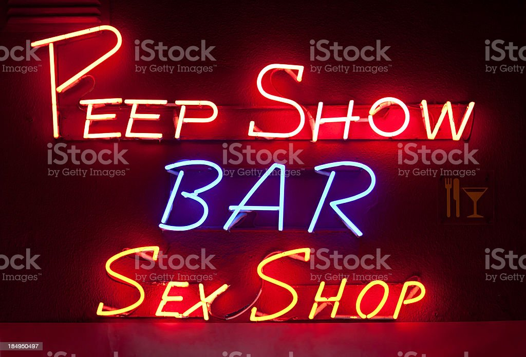 Sex Shop stock photo