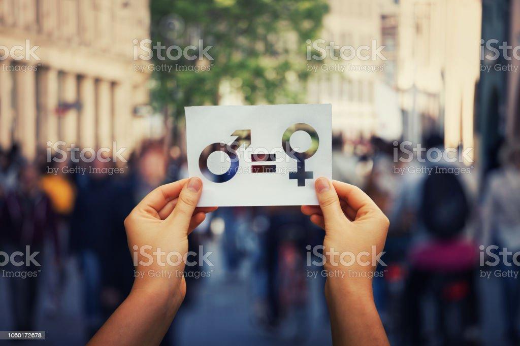 Sex-Zeichen als Metapher für die soziale Frage – Foto